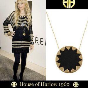 House of Harlow large black Sunburst necklace